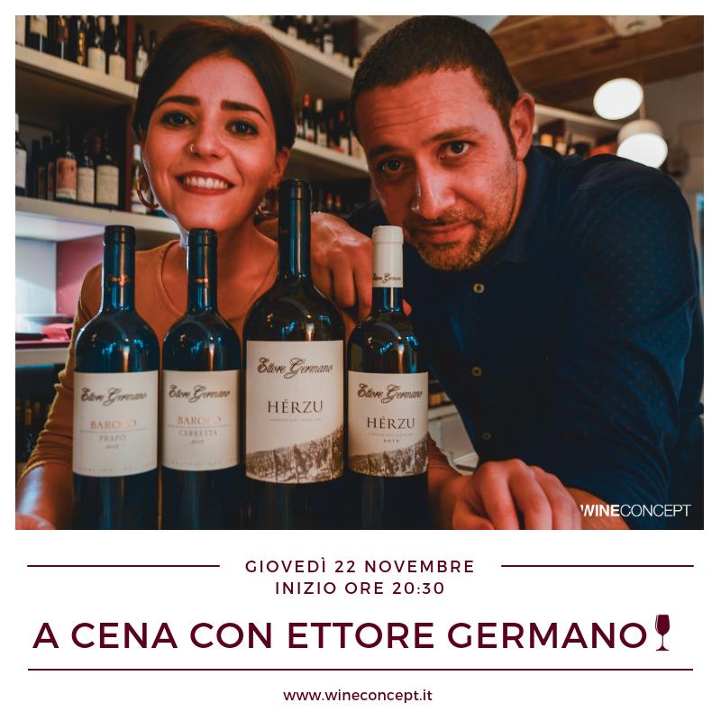 A cena con Ettore Germano